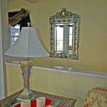 Great Room Upper-Level Lamp and Mirror
